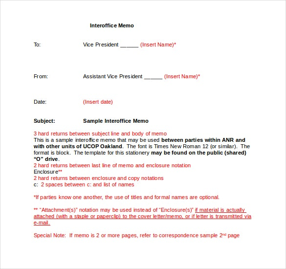 Interoffice Memo In Microsoft Word  Example Of Interoffice Memo