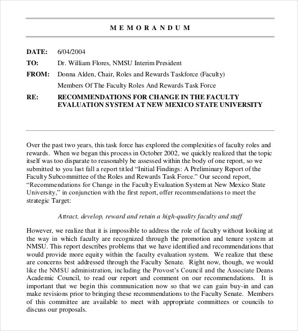 Interoffice Memo Templates   Free Sample Example Format