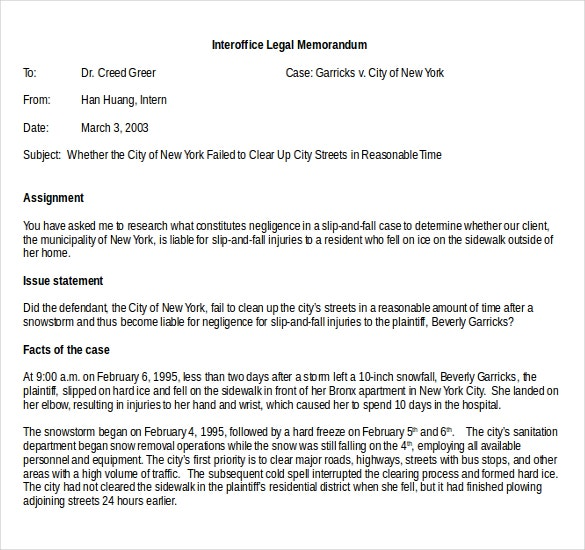 Interoffice Memo Templates 20 Free Sample Example Format – Legal Memo