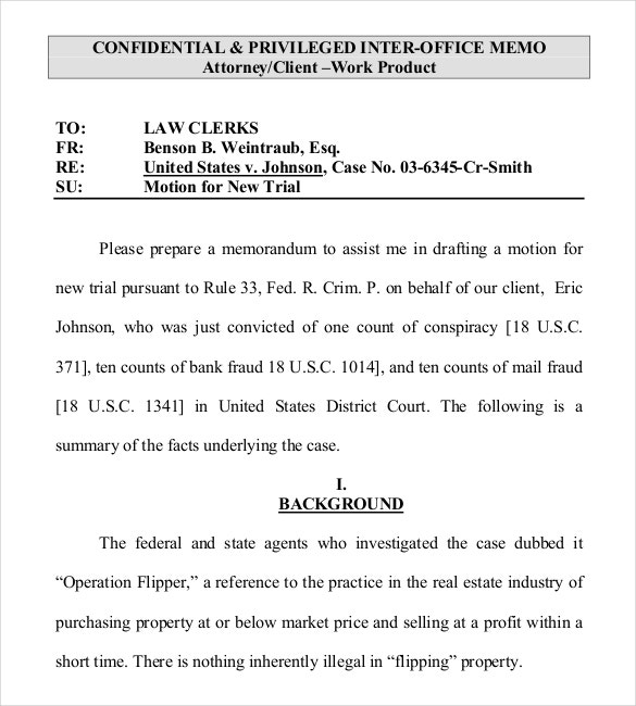 legal writing interofice memo free download