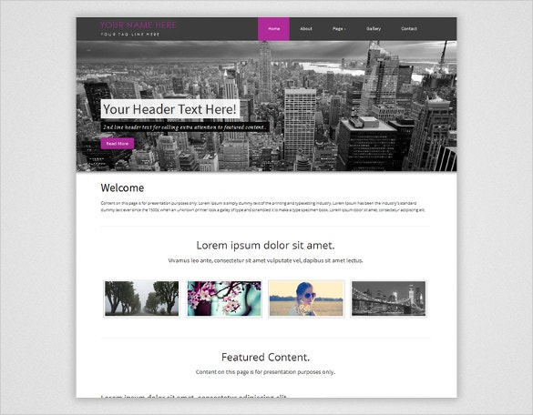 responsive dreamweaver template download for free