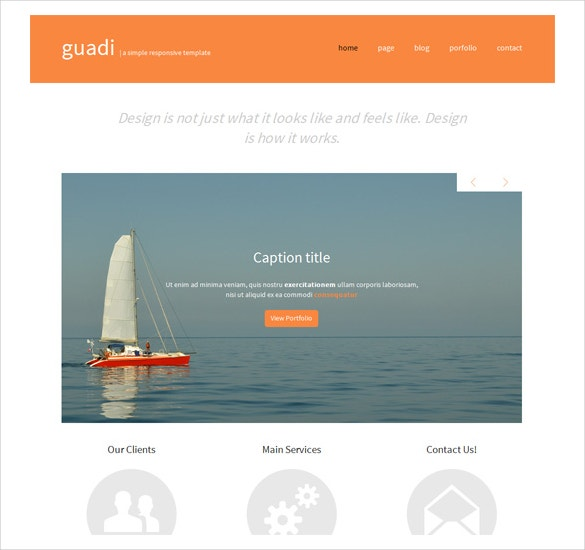 guadi free responsive css template download