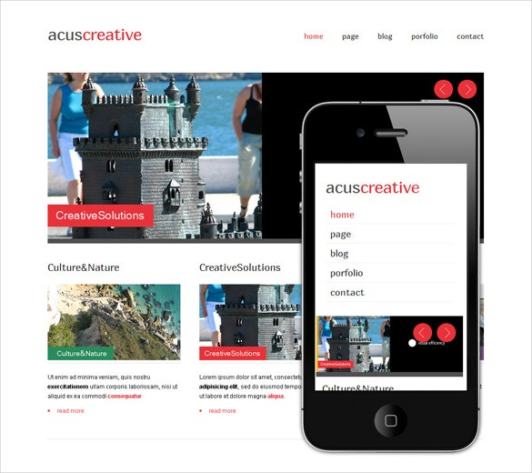 acuscreative dreamweaver template