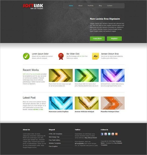 soft link dreamweaver template free download