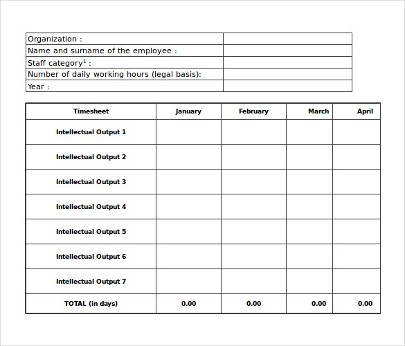 25  excel timesheet templates  u2013 free sample  example format download