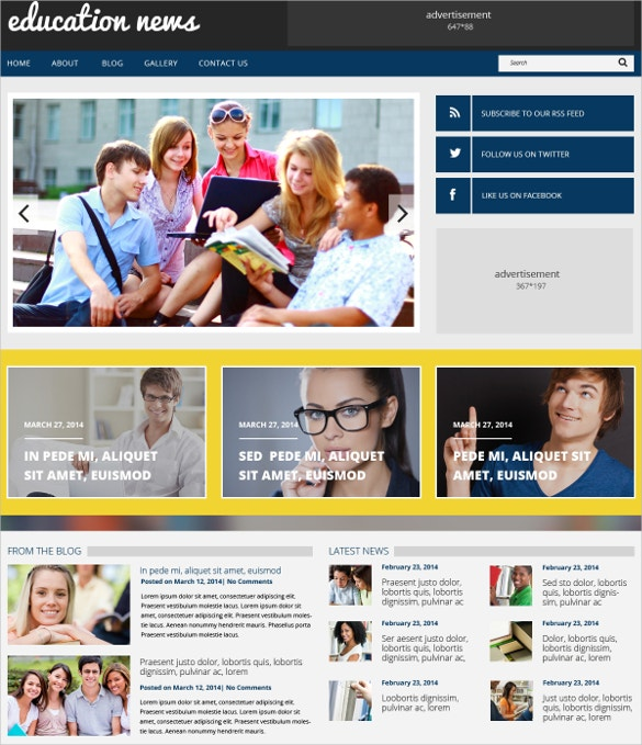 education responsive wordpress theme 75