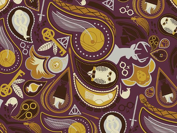 potter paisley pattern free download
