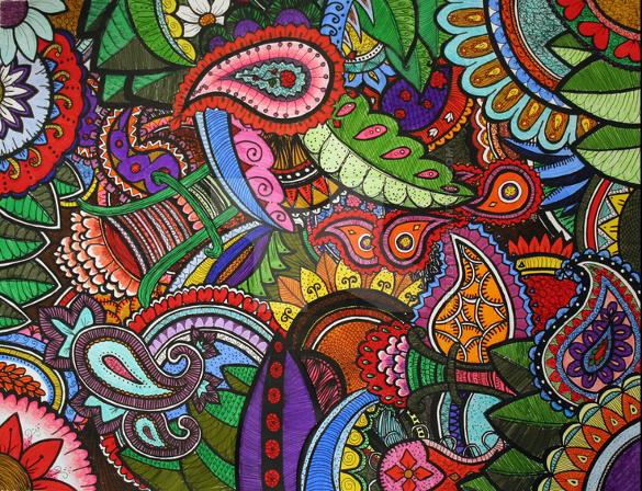 rainbow paisley pattern download