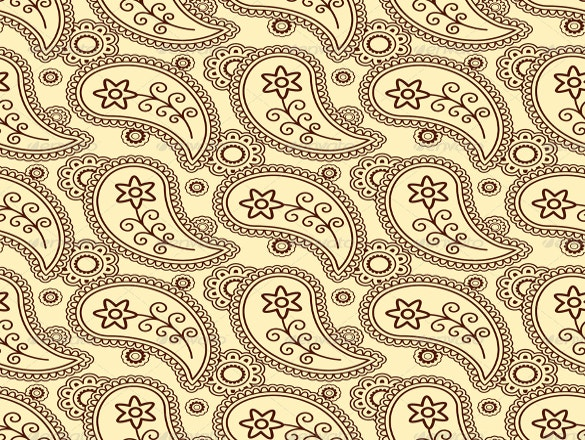 paisley pattern with brown background download
