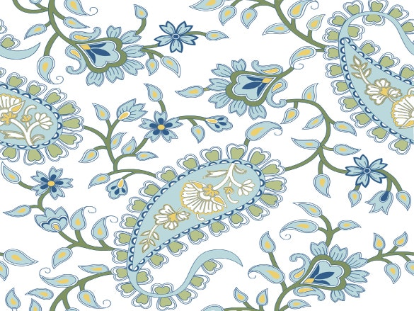 olive green and blue paisley pattern download