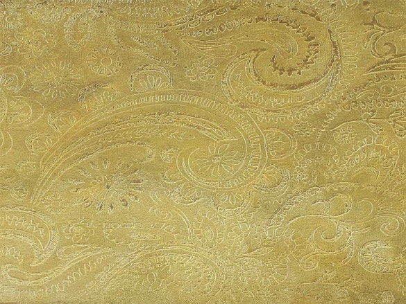 etched brass sheet paisley pattern download