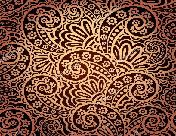 golden paisley pattern download