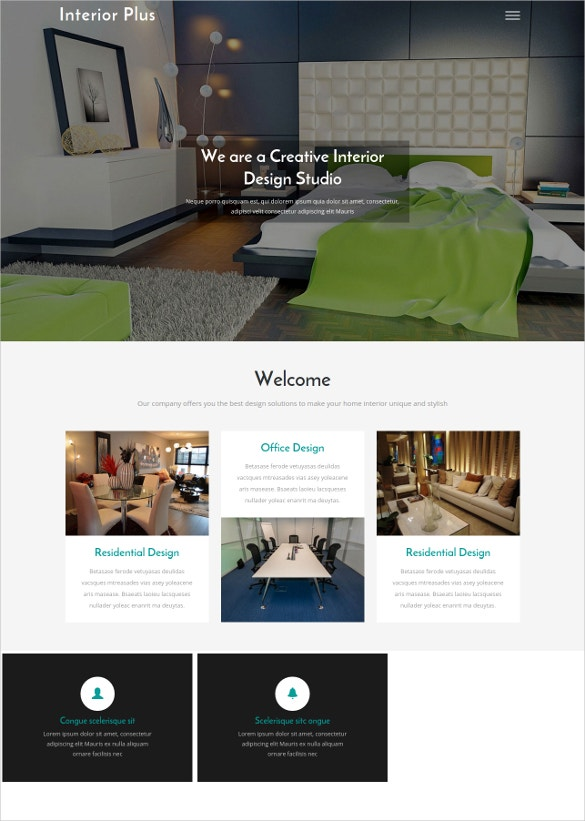 Interior Plus Bootstrap Responsive Website Template Free Demo Download