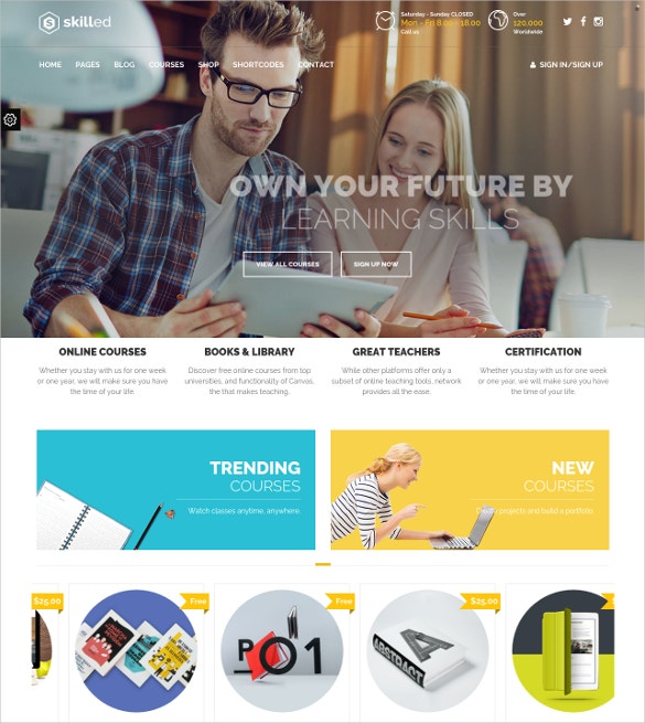 school education courses wordpress theme 59
