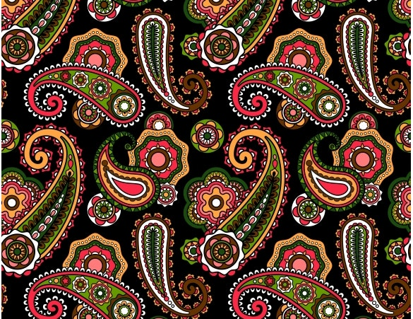 paisley pattern with black background download