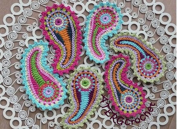crochet pattern paisley free download1