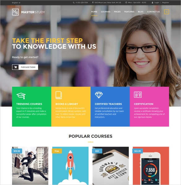 education courses center wordpress theme 59