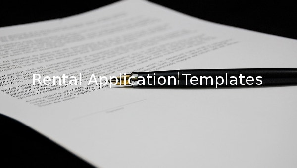 rental application templates1