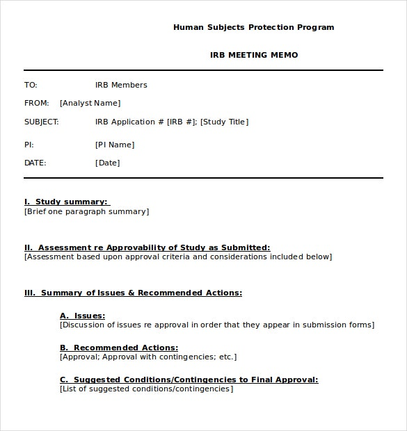 18  meeting memo templates  u2013 sample word  google docs format download