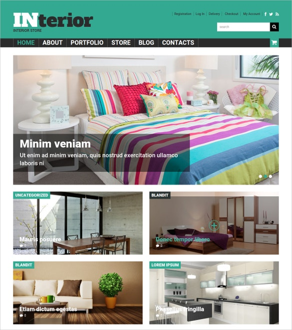 Free Interior Store WooCommerce Website Template Demo Download