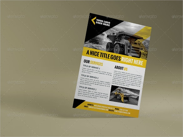 construction company flyer templates for real estate download