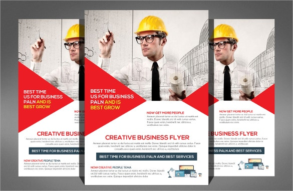 Construction Company Flyer Free PSD AI Vector EPS Format - Company brochure templates free download