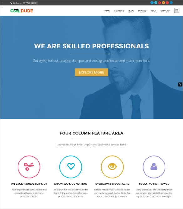 26 hair salon website themes templates free premium templates trendy hair salon wordpress website template maxwellsz