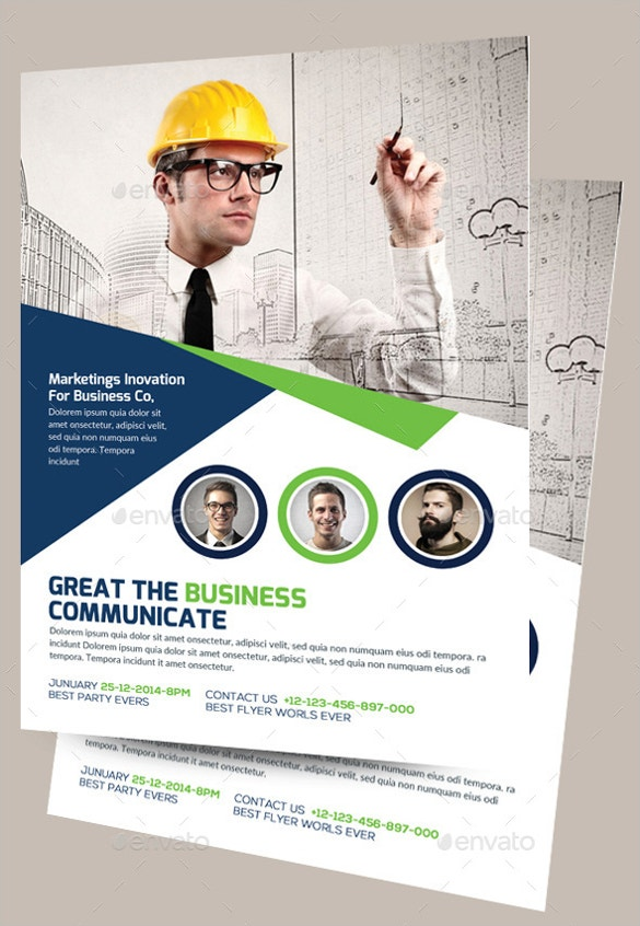 31  construction company flyer templates