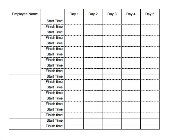 employee weekly timesheet - Weekly Timesheet Template
