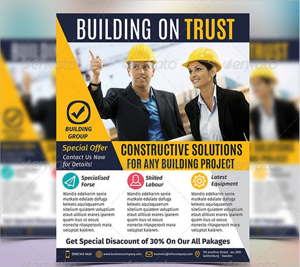 construction company flyer template download