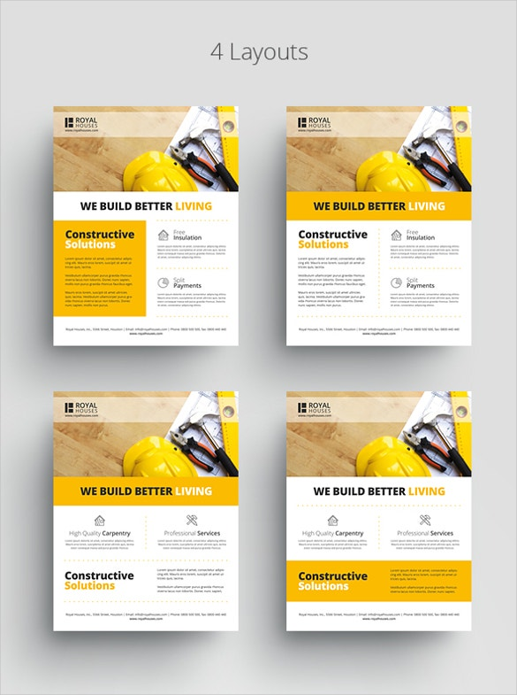 cnstruction business flyer template download