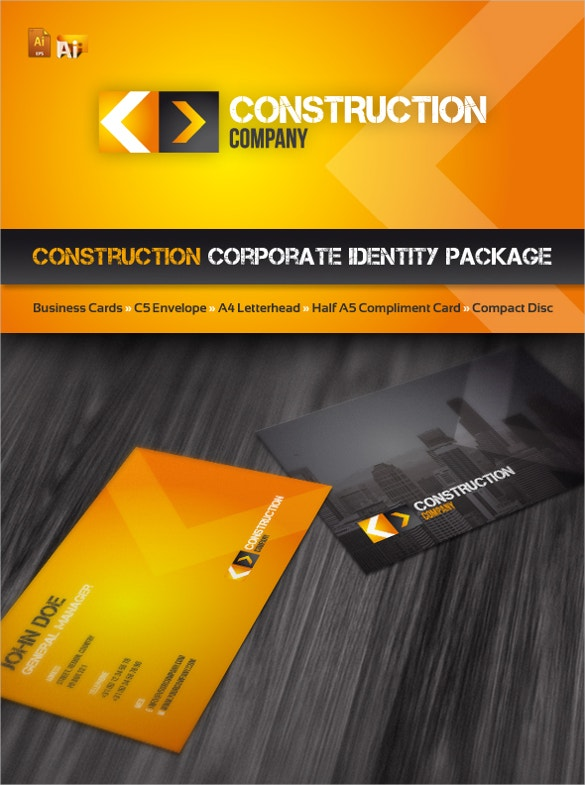 construction company flyer template for corporates download
