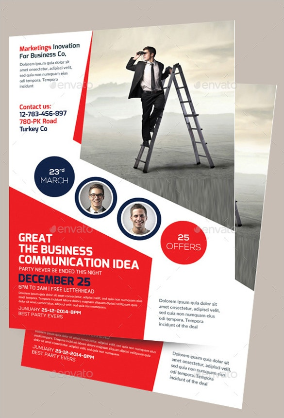 corporate business construction flyer template download