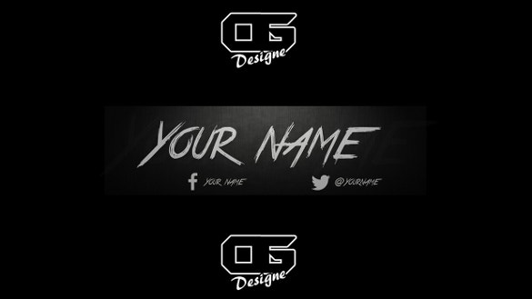 black backgound youtube banner download