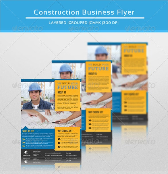 construction business flyer template download1