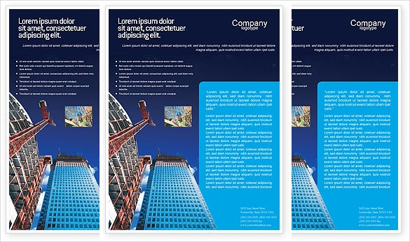 building construction flyer template download