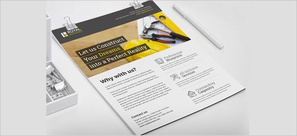 construction company flyer template for real estate