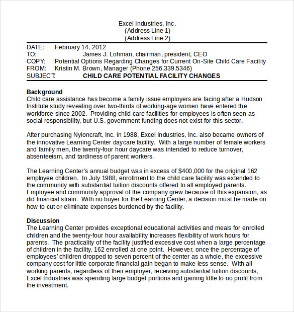 Strategy Memo A Letter From An Employer To Their Employees