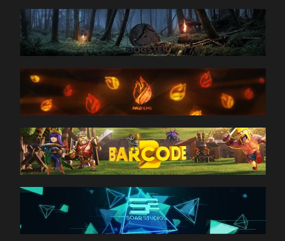 sample youtube banner free download