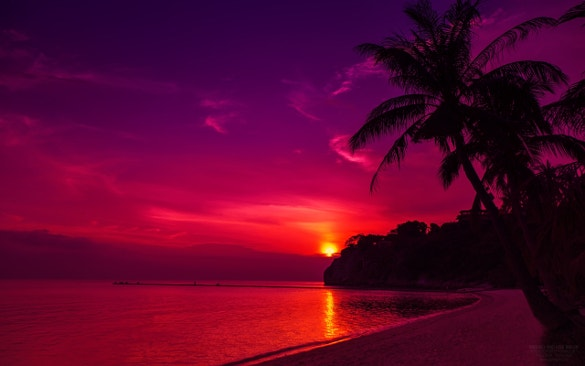 dark night view beach wallpaper for download