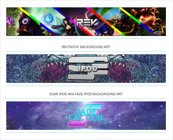 22 youtube channel art templates free sample example format multiple youtube channel arts free download pronofoot35fo Images