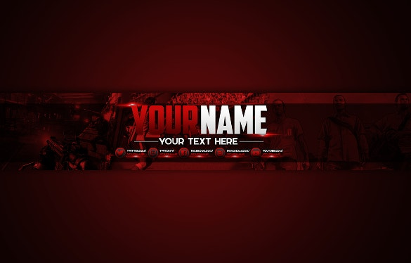 25 youtube channel art templates free sample example for Cool youtube channel art templates