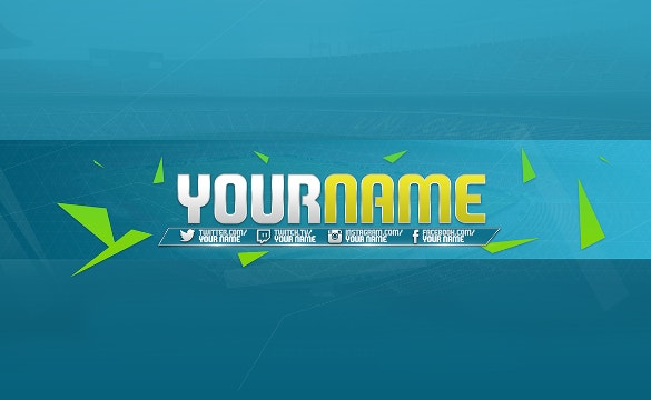 blue background youtube channel art free download