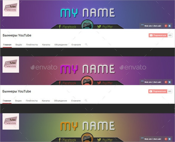 gaming youtube channel art download
