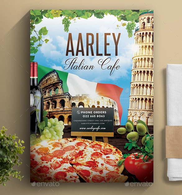 best design of italian cafe menu template psd download