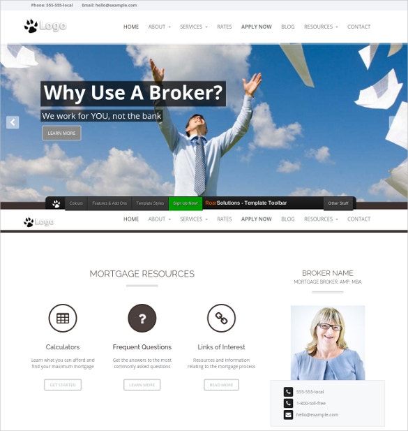 25 Mortgage Website Themes Templates – Mortgage Templates