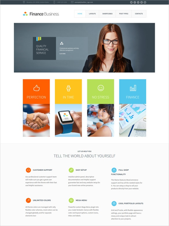 corporate company mortgage website theme
