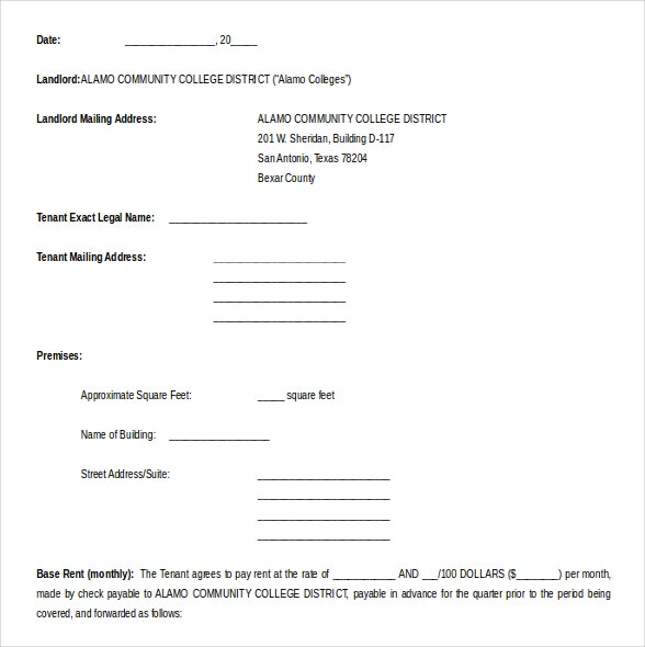 free download lease agreement word format template