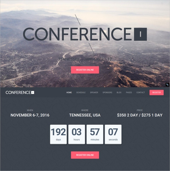 conference wordpress php website theme