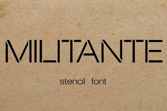 militante stencil font free download